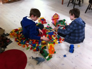 Boys and Duplo